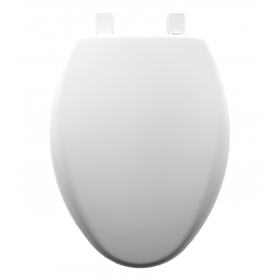 Peachy Bemis Slow Close Sta Tite Elongated Closed Front Toilet Seat White Onthecornerstone Fun Painted Chair Ideas Images Onthecornerstoneorg