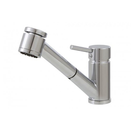 Aquabrass - Tapas - Pull-Out Dual Stream Kitchen Faucet - Brushed Nickel
