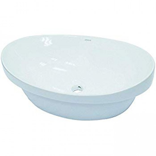 "Decolav - Semi Recessed Ceramic Sink - 23 3/4"" X 14 3/4"", White"