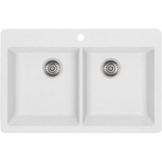 drop in white kitchen sink. Interesting Kitchen Blanco  Horizon 210 Silgranit Double Bowl Drop In Kitchen Sink White To