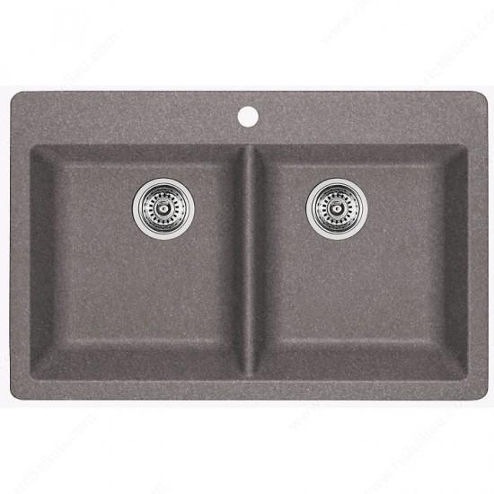 Blanco Horizon 210 Silgranit Double Bowl Drop In Kitchen Sink