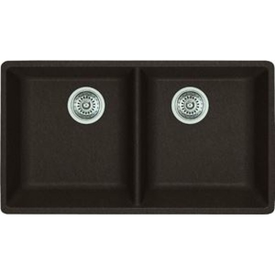 Blanco - Horizon U2 - Silgranit Double Bowl Undermount Kitchen Sink - Anthracite