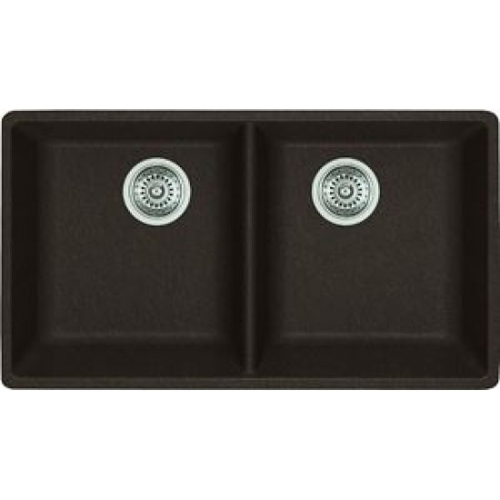 Blanco - Horizon U2 - Silgranit Double Bowl Undermount Kitchen Sink - Cafe