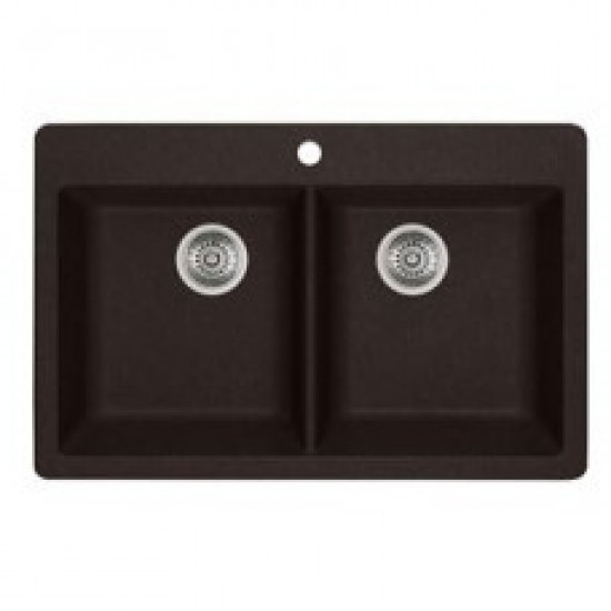 Blanco - Horizon 210 - Silgranit Double Bowl Drop In Kitchen Sink - Anthracite