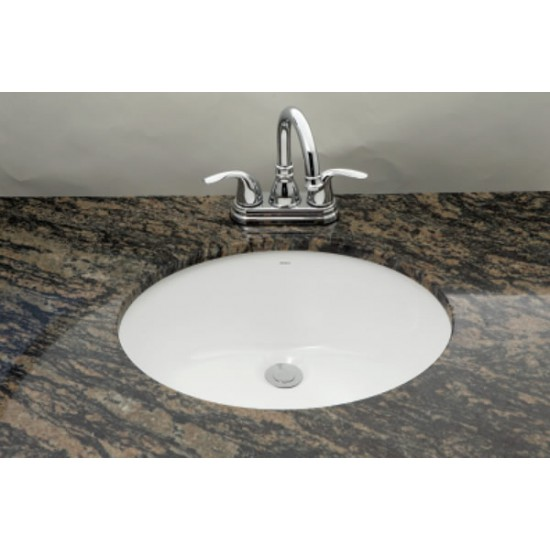 "Bosco - Oval Undermount Sink - White - 19 1/4"" x 16 1/8"" x 8"""