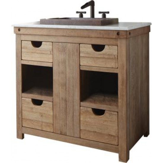 """Native Trails - 36"""" Chardonnay Bathroom Vanity Cabinet - White Wine Stained"""