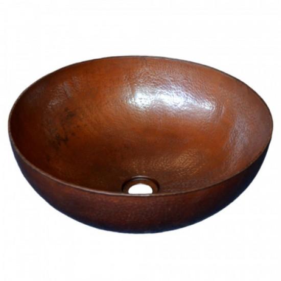Native Trails - Maestro Round - Hand Hammered Vessel Sink - Antique Copper
