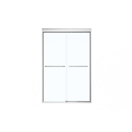 "Maax - Kameleon SC - 60"" X 71"" Semi-Frameless Shower Sliding Door 1/4"" - Clear/Chrome"
