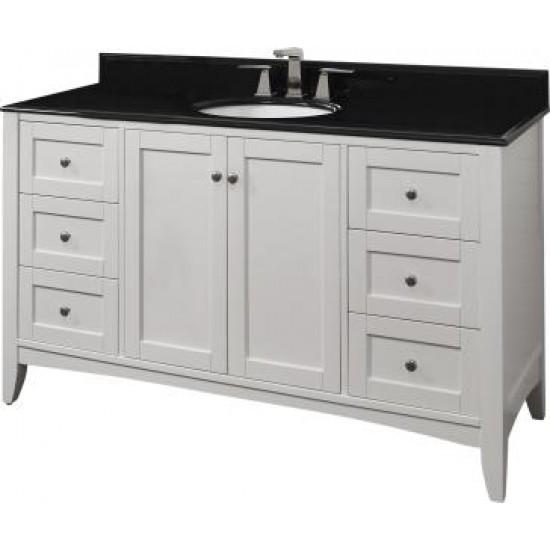 "Fairmont Designs - Shaker Americana 60"" Bathroom Vanity - Polar White"