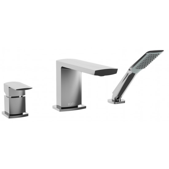 Kalia - GRAFIK™ - 3-Piece Deckmount Tub Filler with Handshower - Chrome
