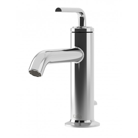 Kalia - Cité - Single Handle Single Hole Bathroom Faucet - Brushed Nickel PVD