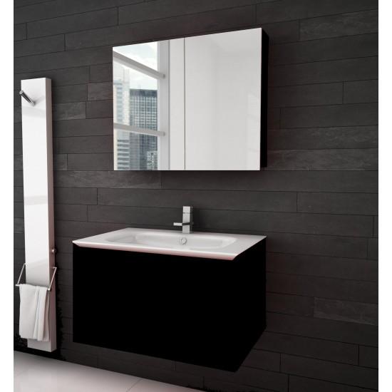PierDeco - Cube Wall Mounted Vanity - Black