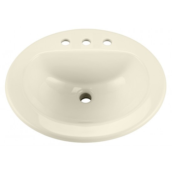 """Gerber - Maxwell Oval - 8"""" Faucet Centers Self-Rimming Lavatory - Biscuit"""