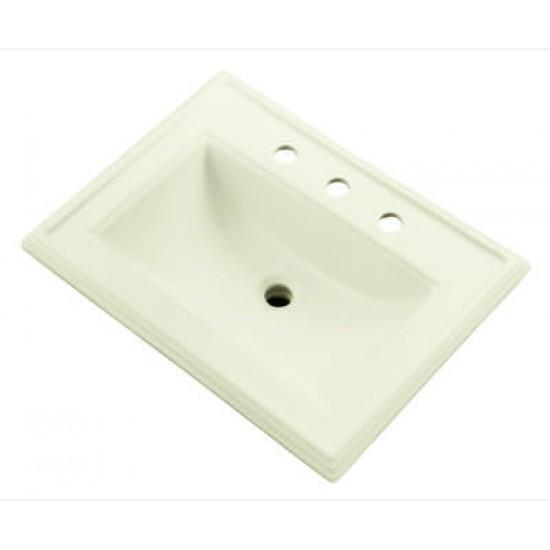 "Gerber - Logan Square™ - Rectangular 8"" Centers Self-Rimming Bathroom Sink - Biscuit - 23 5/8"" x 18 1/4"""