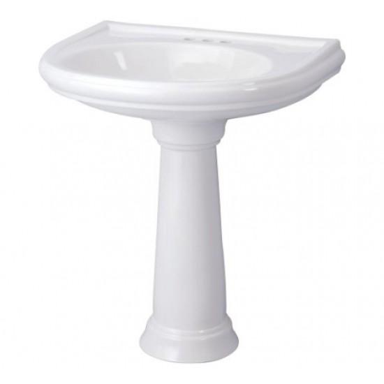 "Gerber - Brianne - 4"" Faucet Centers Petite Pedestal Lavatory - Biscuit"