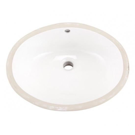 """Gerber - Luxoval Undermount Sink - White - 18"""" x 15"""""""