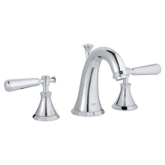 """Grohe - Kensington - 8""""CC Widespread Lavatory Faucet - Lever Handles - Chrome"""