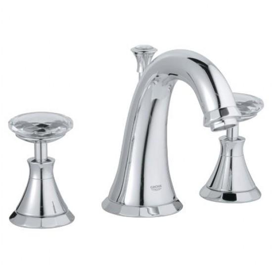 "Grohe - Kensington - 8""CC Widespread Lavatory Faucet - Swarovski Crystal Handles - Chrome"