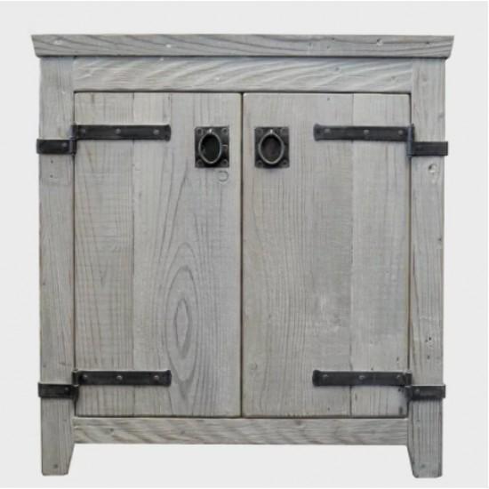 "Native Trails - 30"" Americana Bathroom Vanity Cabinet  - Driftwood"