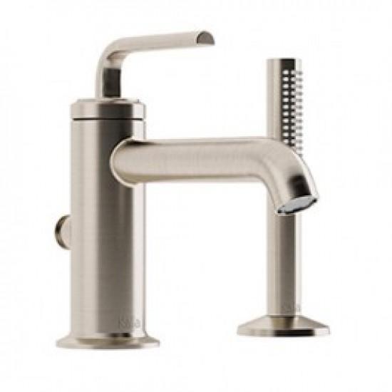 Kalia - CITÉ™ - 2-Piece Deckmount Tub Filler with Handshower - Brushed Nickel