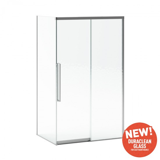 "Kalia - K-motion - 2 Panel Sliding Shower Door with Return Panel - Corner Installation - 48"" x 36"""