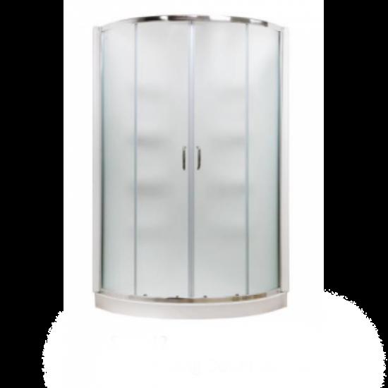 "Cabalo - Acrylic - 38"" x 38"" Round Corner Shower - Double Sliding Door Frosted"