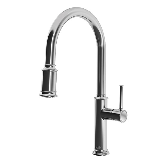 Single Handle Kitchen Faucet With Pull Out Sprayer | Kalia Okasion Single Handle Kitchen Faucet Pull Down Dual Spray