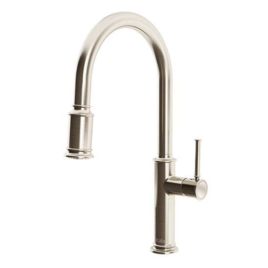 Kalia - Okasion - Single Handle Kitchen Faucet Pull-Down Dual Spray - Stainless Steel PVD