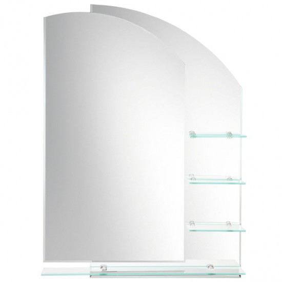 Laloo - Double Layered Mirror with Shelves - Right Hand - H00165