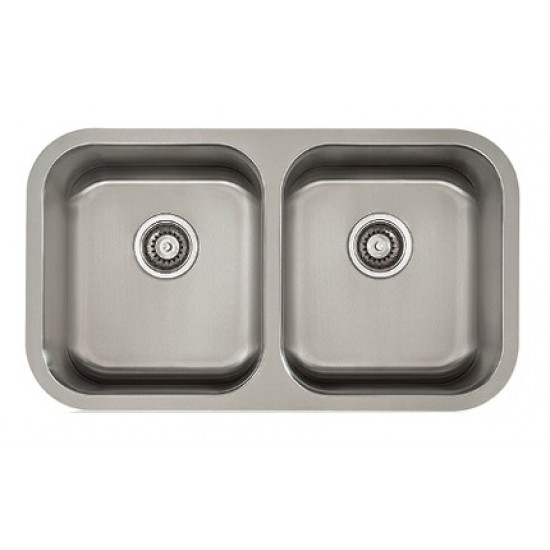 Lenova   Classic   16 Gauge Undermount Stainless Steel Double Bowl Kitchen  Sink
