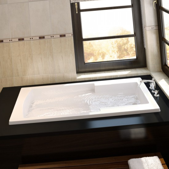 Longevity - Novare - Drop-In Bathtub - 6032 - White - End Drain