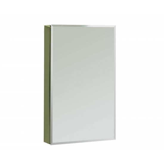 "Maax - Element Single-View - Pencil Edge Mirrored Medicine Cabinet - 18"" x 30"" x 5"" - Chrome"