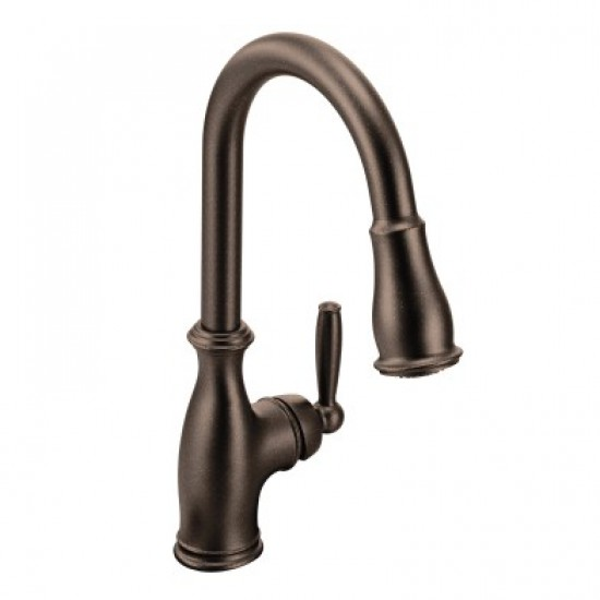 Moen - Brantford- Single Handle Dual Spray Pull Down Kitchen Faucet - Oil Rubbed Bronze