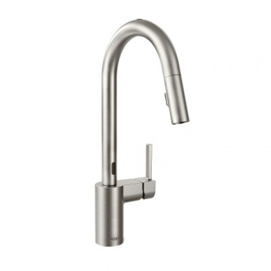 Moen Align Motion Sense Single Handle Pull Down Kitchen Faucet Spot Resist Stainless