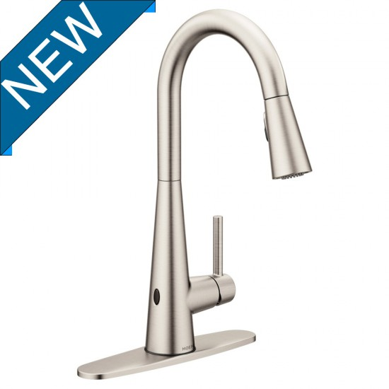 Moen - Sleek- MotionSense Wave Kitchen Faucet - Spot Resist Stainless