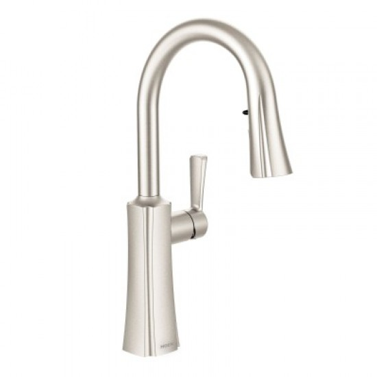 Moen Etch Single Handle Dual Spray Pull Down Kitchen Faucet