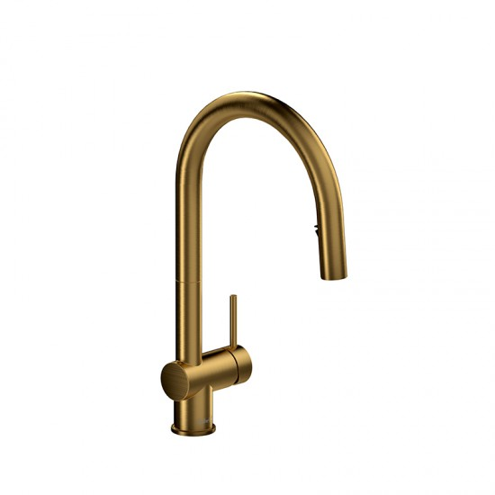 Riobel - Azure - Kitchen Faucet with Spray - Brushed Gold