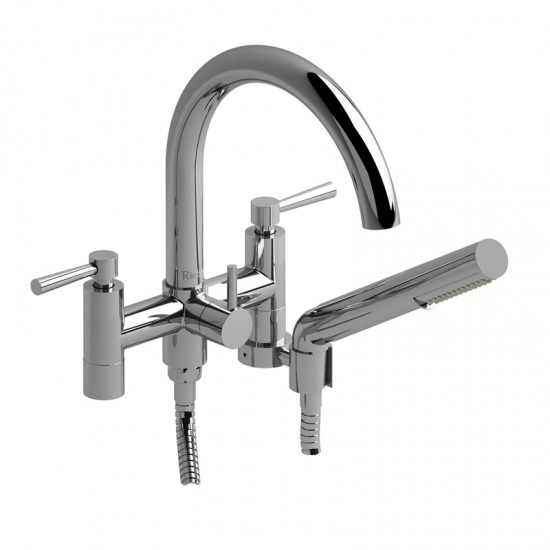 "Riobel - Pallace - 6""  2 Handle Tub Filler with Hand Shower - Chrome"