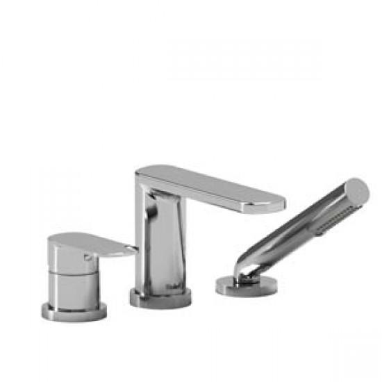 Riobel - Ever - 3-Piece Deck-Mount Tub Filler with Hand Shower - Polished Chrome