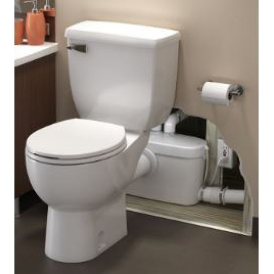 Saniflo - SaniAccess3® - Macerating Pump Toilet System - Round Front - White