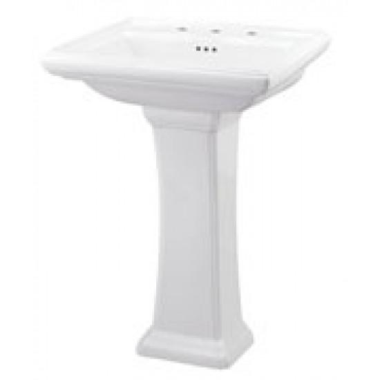 """Gerber - Logan Square - 4"""" Faucet Centers Petite Pedestal Lavatory"""