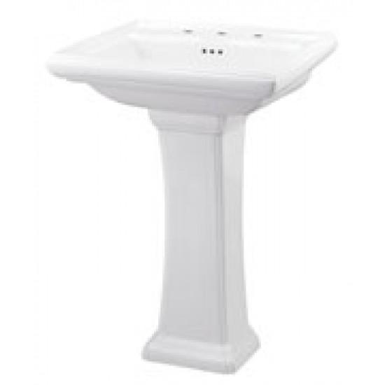 "Gerber - Logan Square - 8"" Faucet Centers Standard Pedestal Lavatory"