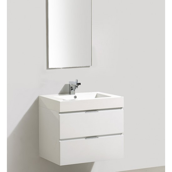"Veneto Bath - 690C - 27"" Bathroom Vanity Cabinet - Polar White"