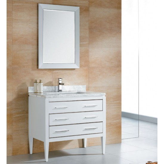 "Veneto Bath - MC 4002 - 36"" Bathroom Vanity - White"