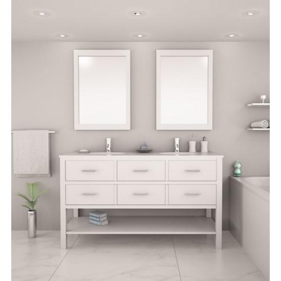 "Veneto Bath - MC 416-60 - 60"" Bathroom Vanity - White"