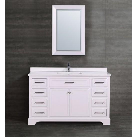 "Veneto Bath - MC 621-56 - 56"" Bathroom Vanity - White"