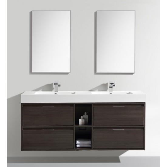 """Veneto Bath - MC 1500 - 59"""" Bathroom Vanity - Wenge"""