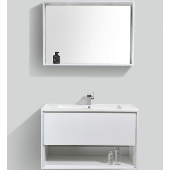"Veneto Bath - MC 1000H - 39"" Bathroom Vanity - White Lacquer"