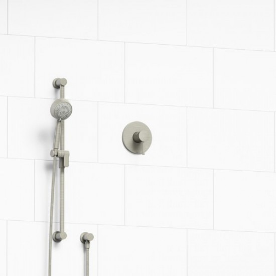 Riobel - Edge - Pressure Balance Shower Valve with Hand Shower - Brushed Nickel