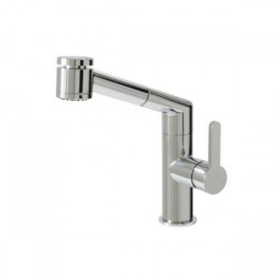 Aquabrass - New Condo - Pull-Out Dual Mode Kitchen Faucet - Brushed Nickel